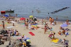 SVETLOGORSK, RUSIA: Playa de Sandy en la costa del mar Báltico Fotografía de archivo