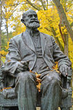 SVETLOGORSK, RUSSIA. Fragment of a monument to the academician I. P. Pavlov in the fall. SVETLOGORSK, RUSSIA - OCTOBER 26, 2016: Fragment of a monument to the Stock Photography