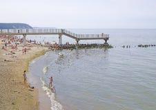 SVETLOGORSK, RUSSIA: Sandy beach on coast of Baltic Sea Royalty Free Stock Photography