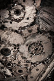 Svetsande sömsmetallbakgrund Royaltyfri Bild