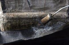 Svetsning av en vattentät skida Arkivfoto