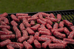 Svezi cevapi. Fresh mini sausages on the grill Royalty Free Stock Photo