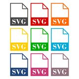 SVG file icons set. Simple  icon Royalty Free Stock Images