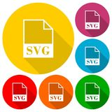 SVG file icons set. Simple vector icon Royalty Free Stock Photography