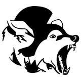 Svg tir? par la main du vecteur ENV Crafteroks de coyote libre, dossier libre de svg, ENV, dxf, vecteur, logo, silhouette, ic?ne, illustration stock