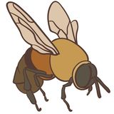 Svg tirado mão do eps Crafteroks do vetor da abelha livre, arquivo livre do svg, eps, dxf, vetor, logotipo, silhueta, ícone, tran ilustração stock