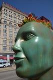SVI-planter van Installatie de Groene Ideeën, Chicago van de binnenstad Stock Foto