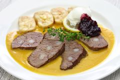 Traditional Czech cuisine Royalty Free Stock Photos