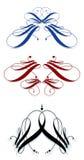 Svignettes calligrafici Immagini Stock
