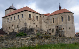 Svihov – water castle, rear view. Water Castle Svihov-stone castle situated in the town of the same name near Klatovy. The castle is surrounded by water royalty free stock photo