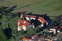 Svihov castle - air photo Stock Images