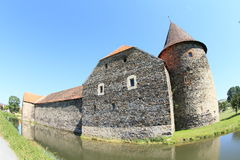 Svihov castle behind moat Royalty Free Stock Photography