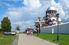 Svijazhsk Troitskaya街 我们的Al喜悦的夫人大教堂  免版税库存图片