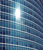 Sviluppando completamente consistere delle finestre di vetro Immagine Stock