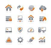 Sviluppatore web Icons -- Serie della grafite Fotografia Stock Libera da Diritti