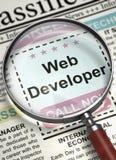 Sviluppatore web Join Our Team 3d Fotografie Stock Libere da Diritti