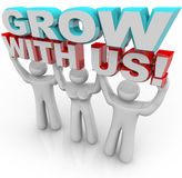 Sviluppi con noi - unisca un gruppo per sviluppo personale Immagine Stock