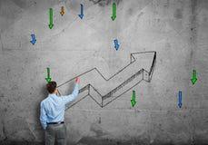 Sviluppi e concetto di successo Fotografie Stock