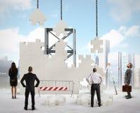 Sviluppi una nuova società Immagine Stock