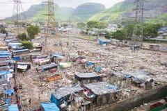 Sviluppo dei bassifondi di Mumbai immagini stock libere da diritti
