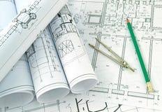 Sviluppo dei disegni di progetto Immagini Stock Libere da Diritti