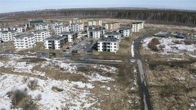 Sviluppo del complesso residenziale suburbano nuovo video d archivio