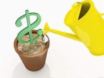 Sviluppo del dollaro Fotografia Stock Libera da Diritti