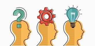 Sviluppo del gruppo di progettazione di massima di idee di affari Immagine Stock