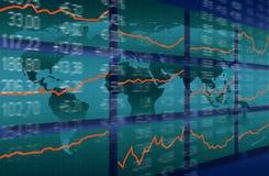 Sviluppo del mercato azionario Fotografie Stock Libere da Diritti
