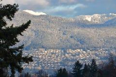 Sviluppo del territorio di Vancouver sulla riva del nord Fotografia Stock Libera da Diritti