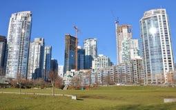 Sviluppo del territorio e Real Estate di Vancouver Immagine Stock Libera da Diritti