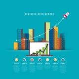 Sviluppo di affari Fotografia Stock