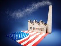 Sviluppo di industria degli Stati Uniti Fotografia Stock Libera da Diritti