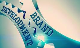 Sviluppo di marca - meccanismo degli ingranaggi metallici del dente 3d Fotografia Stock Libera da Diritti
