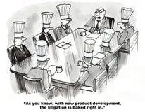 Sviluppo di nuovo prodotto e di controversia Immagini Stock Libere da Diritti