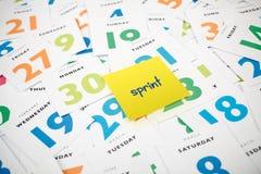 Sviluppo di software agile - sprint fotografie stock libere da diritti