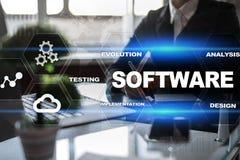 Sviluppo di software Concetto di tecnologia di sistema di programmi di Digital di dati immagine stock libera da diritti