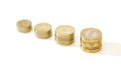 Sviluppo di soldi cento fatture del dollaro che crescono nell'erba verde Immagine Stock Libera da Diritti