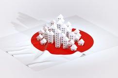Sviluppo immobiliare del Giappone Fotografia Stock Libera da Diritti