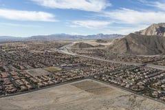 Sviluppo incontrollato suburbano di Las Vegas Immagine Stock