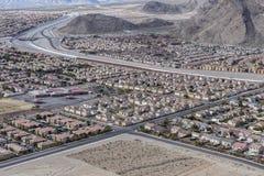 Sviluppo incontrollato suburbano di Las Vegas Fotografia Stock
