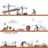 Sviluppo infrastrutturale Fotografia Stock