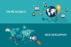 Sviluppo online di web e di affari Fotografia Stock