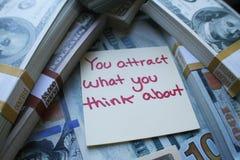 Sviluppo personale per l'attrazione della ricchezza nella vostra alta qualità di vita Fotografie Stock Libere da Diritti