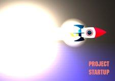 Sviluppo Startup di volo di Rocket, Fotografie Stock