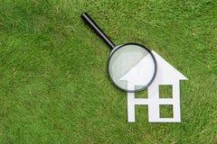 Sviluppo verde della casa della costruzione, conservazione ambientale, mA Fotografia Stock Libera da Diritti