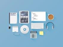 Sviluppo Web che codifica il illust stabilito di vettore dell'icona piana Fotografia Stock