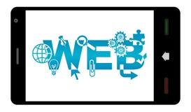 Sviluppo Web rispondente Smartphone Fotografia Stock