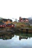 Svinøyas Häuser und rorbuer Lizenzfreies Stockfoto