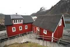 Svinøya's rorbuer Royalty Free Stock Photos